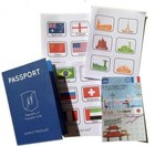 custom a5 a6 size paper printed fake passport book booklet printing for kids