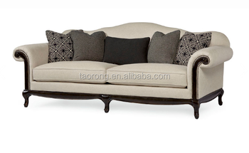 Living Room Fabric Sofa With Wooden Legs Trso-469