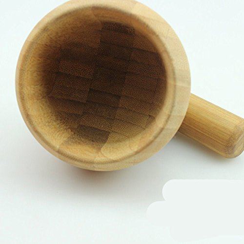 High Quality Bamboo Wood Mortar And Pestle 5