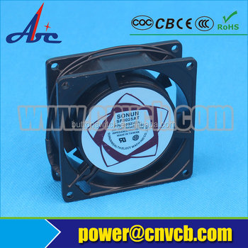 F01 80mm cooling fan aluminum ac axial fan with CE CCC SGS ROHS Certificates axial fan 80x80x25