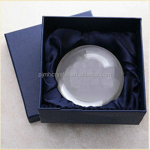 Domed ball shape blank Crystal glass paperweight MH-ZZ034