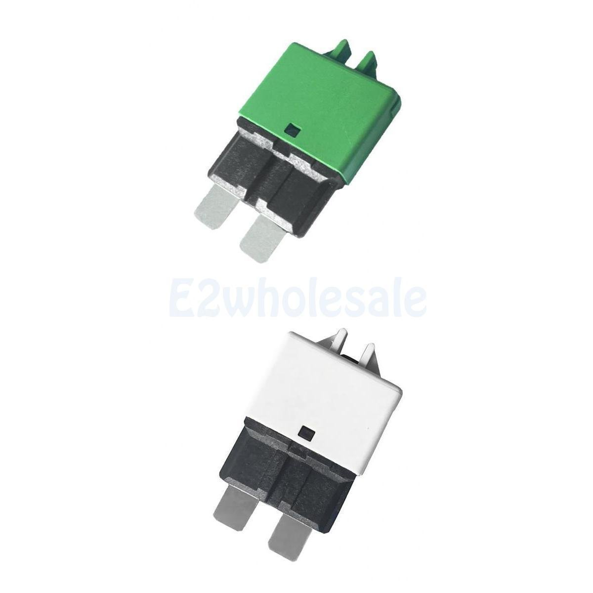 2pcs Automatic Resettable Fuse Auto Marine Circuit Breaker Blade 30A 25A 12V