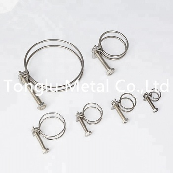 조절 types 링 galvanized durable 강 두 번 선 봄 hose clamp