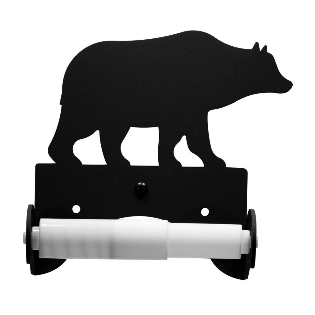Iron Traditional Style Bear Toilet Roll Tissue Holder - Heavy Duty Metal Toilet Paper Holder, Toilet Tissue Holder, Toilet Paper Dispenser, Toilet Roll Dispenser