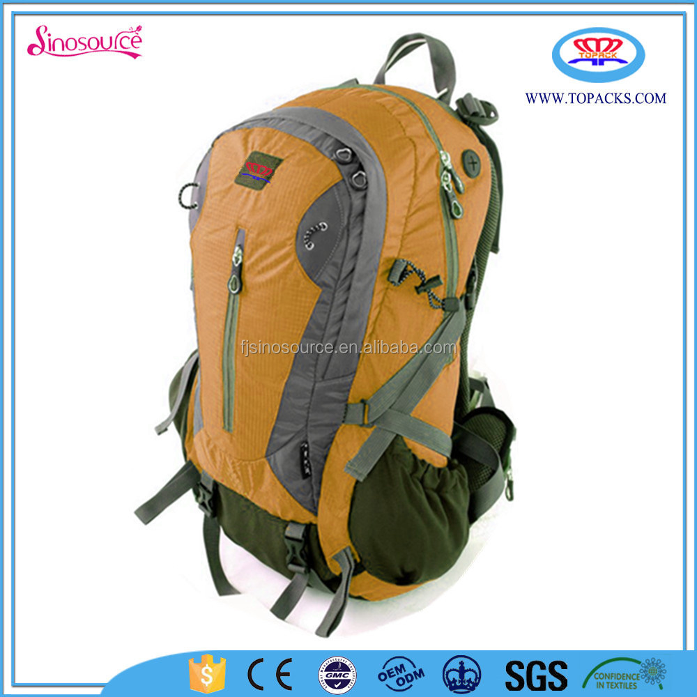 50L outdoor hiking backpack with water bottle holder