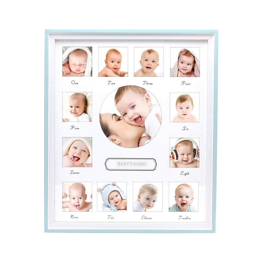White Picture Frame and Black Matte Baby First Year Picture Frame Baby 12 Months Picture Frame Baby Year Frame Baby Gift Baby Collage Baby Frame