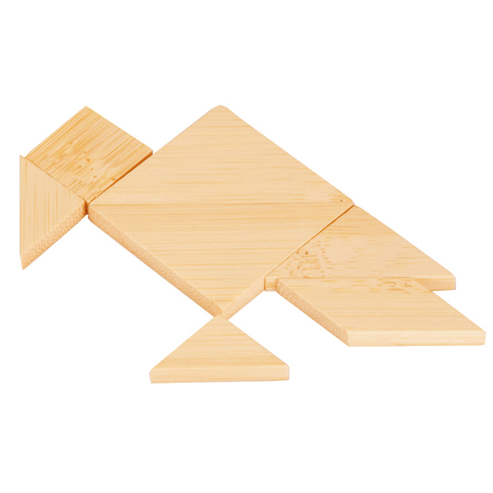 Wooden Puzzle 7pc Jigsaw Tangram Games for Promotion