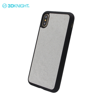 Real cement and black tpu telephone hardcase for iphone x case tpu,latest 100% fit shockproof case promoters