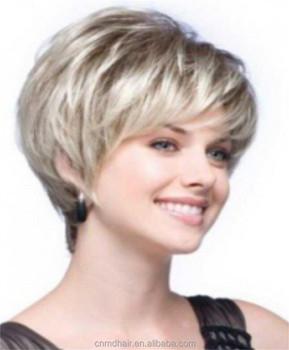 Beauté Synthétique Courte Bouclée Cheveux