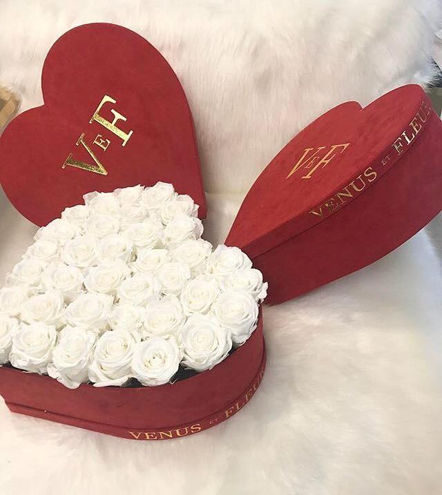 Custom Wedding/Christmas Velvet Flower Cardboard Packaging Box Gift Rose Box For Flowers