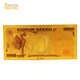 24k gold foil banknote fake yen 10000 dollar collectable bank notes