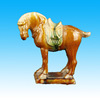 Handmade Carved Vivid Horse Pottery Animals