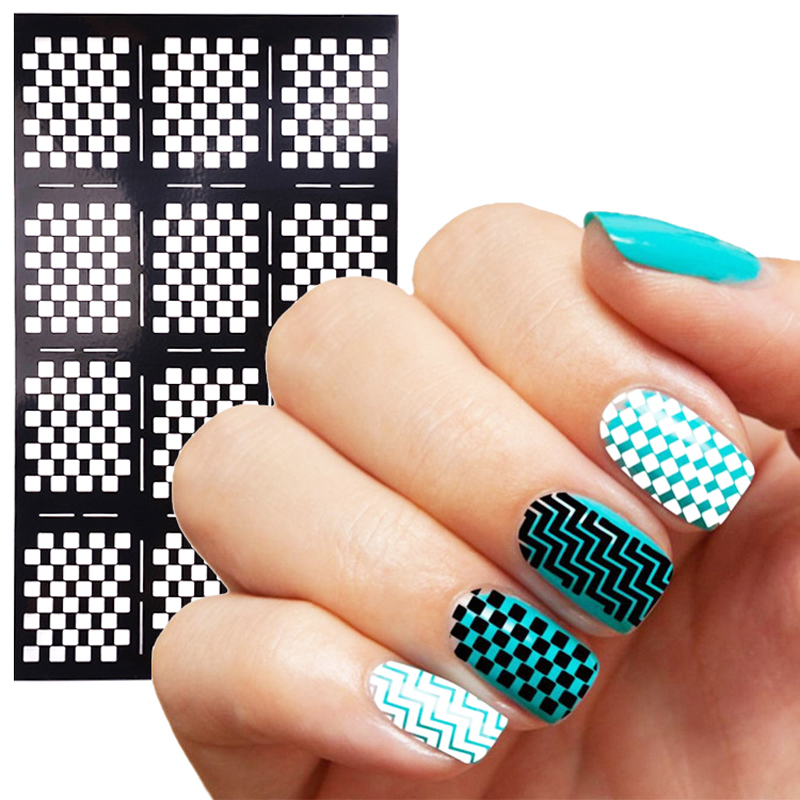 Wholesale Hollow Stickers Stencil For Nails Art Design Plate For