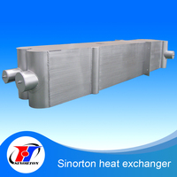 China supplier plate type heat exchanger air /oil cooler without water