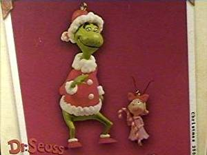 QXI8377 The Grinch and Cindy Lou Who Dr Seuss's How the Grinch Stole Christmas 2003 Hallmark Ornament
