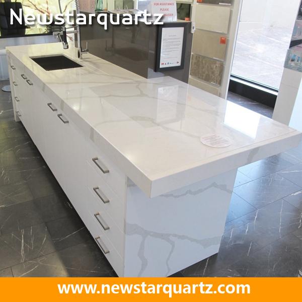 Glitter Veins Of Quartz With Large Stone Slabs : Statuary vein white quartz slab buy faux