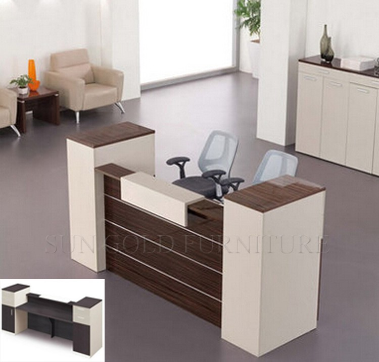 good quality front desk table wood office cashier counter