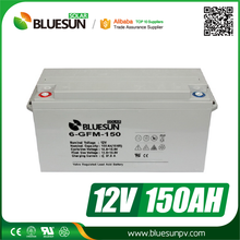 Bluesun hot sale 12v 150ah 160ah ups battery with ISO CE ROHS with variety use