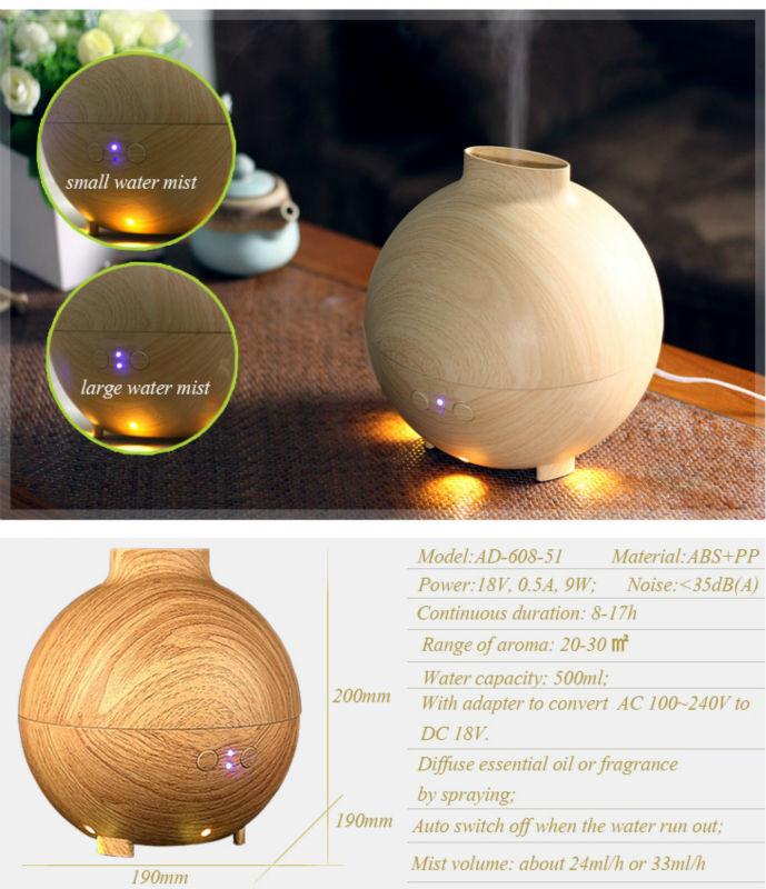 essential oil diffuser 7 color changing oil diffuser aroma diffuser foshan