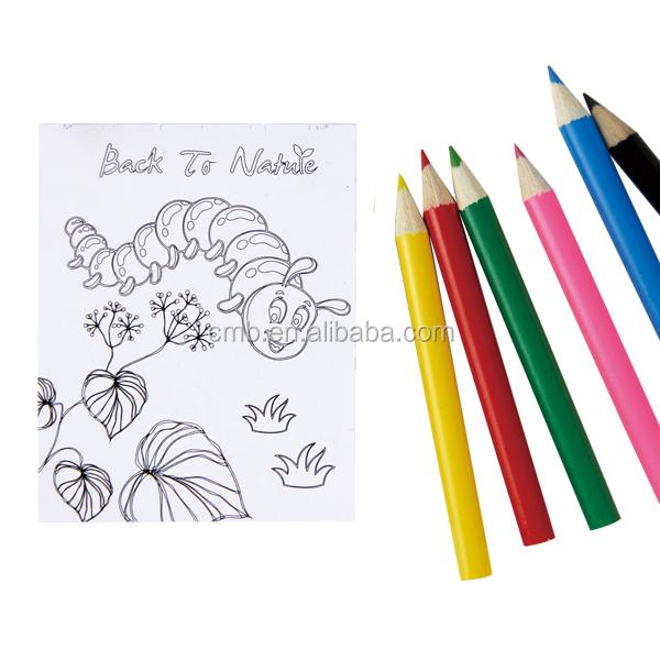 Portable Pvc Pencil Bag With Art Colored Pencils