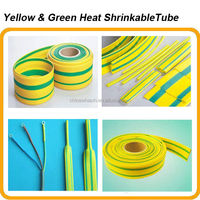 cheapest price for yellow-green heat shrinkable tube,30mm,40mm,50mm,60mm,70mm,80mm,90mm bottom price sales YG heat shrink tube