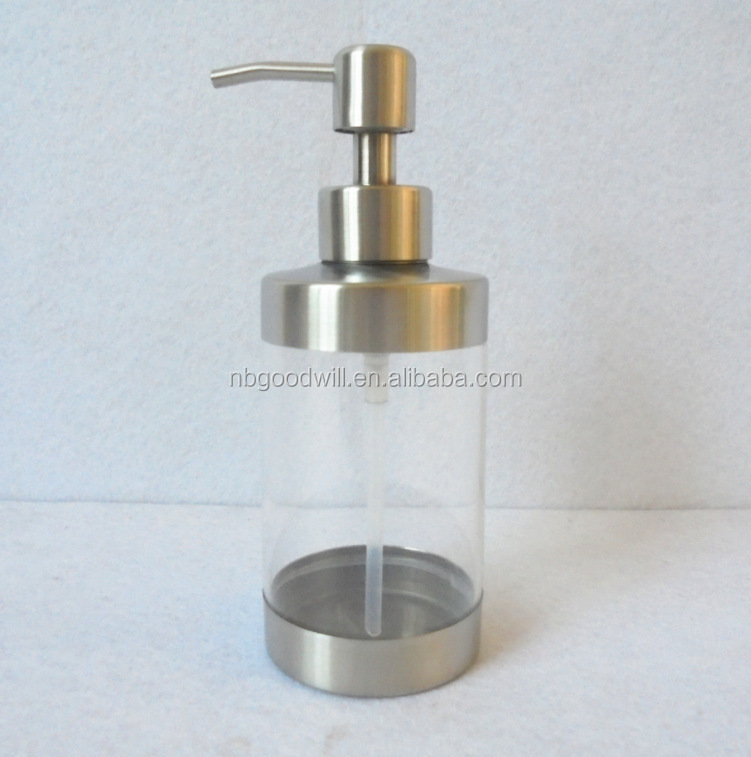 Stainless steel 380 ml hand washing liquid bottle, transparent shower gel hand sanitizer bottle, things that defend bath