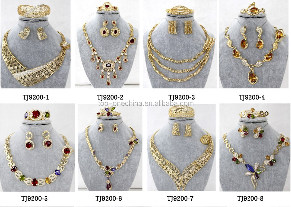 2016 New Beads Jewelry Set Flower Design African Jewelry Set ...