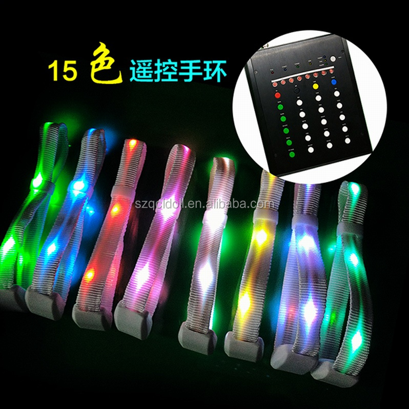 Radio Controlled LED Bracelets Remote Controlled Lighting Wristbands for Events Concert Wedding Corportaion Celebrations