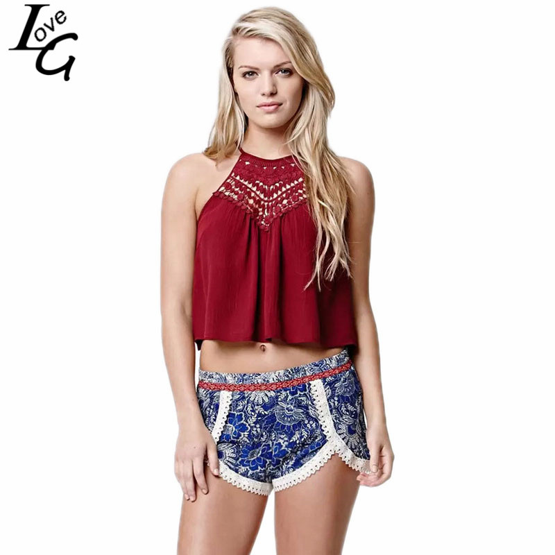 f83c44605a83f Get Quotations · Girlfriends Love Hot Sale 2015 Summer Style New Fashion  Women Casual Crop Top Sexy Halter Lace