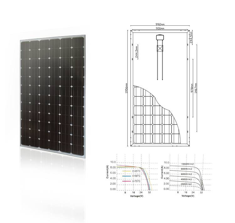 YuanChan 300W Mono Solar Cell Solar Panel For Solar Power System