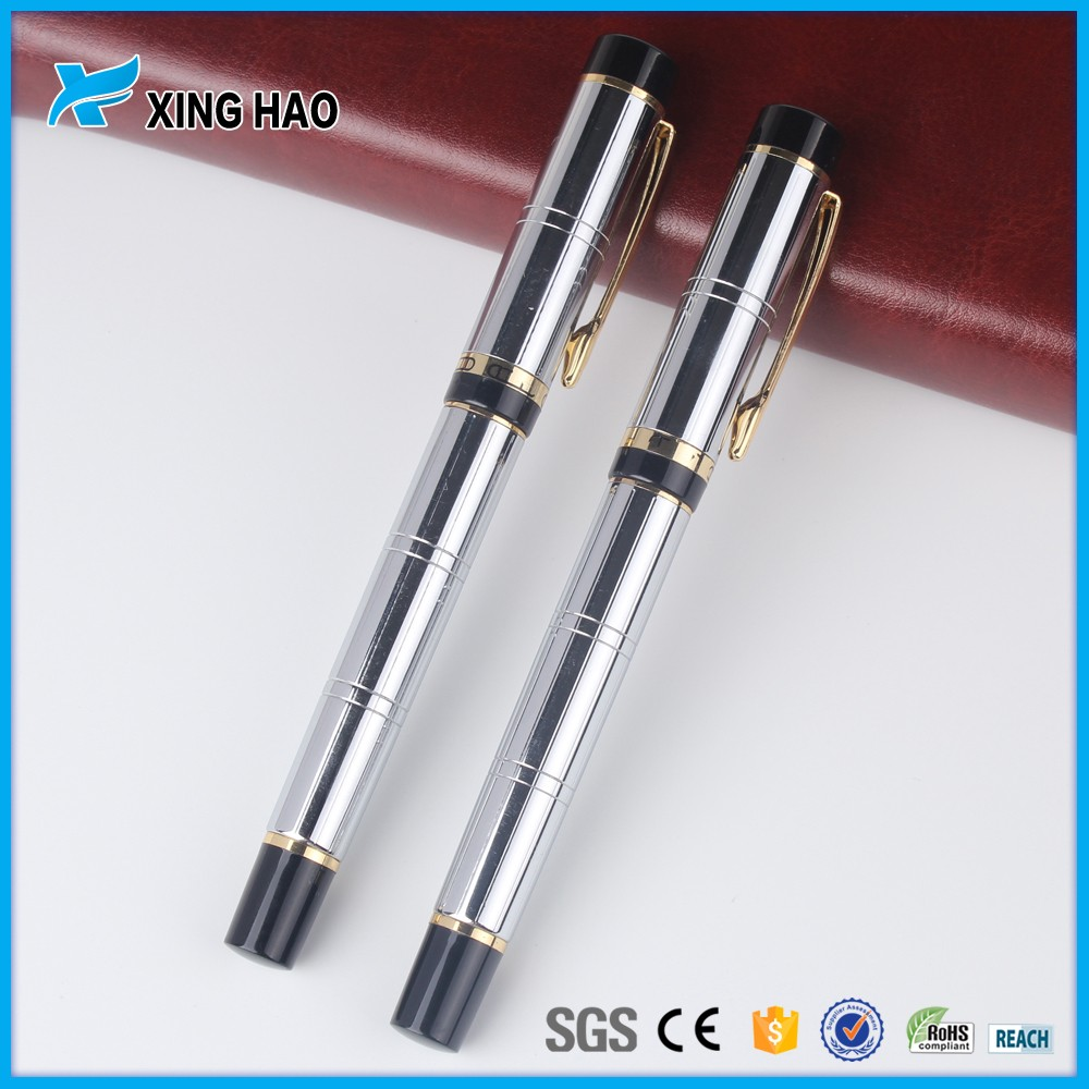 fashion Office Gift metal pen with personal custom logo luxury fountain pens gold&silver metal pen