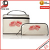 2 Piece Set Waterproof Travel Cosmetic Bag Oilcloth Cosmetic Bag