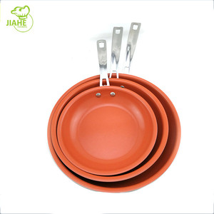 Hot Sale Aluminum Nonstick Ceramic Coating Fry Pan With Stainless Steel Handle