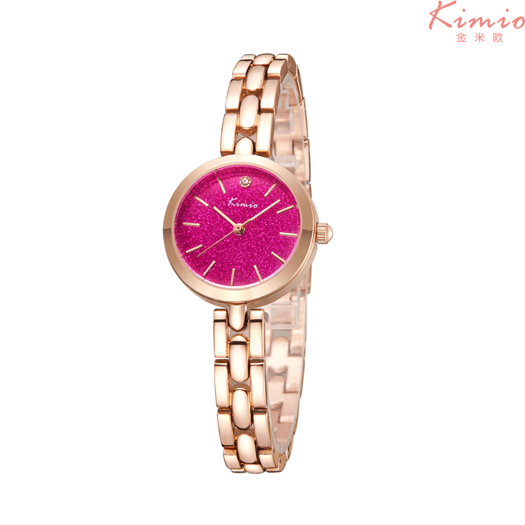 KIMIO 6215 New Sale Fashion Lady Wrist Watch Quartz Woman Hours Best Dress Korea Bracelet Brand Multicolored Crystal Wristwatch