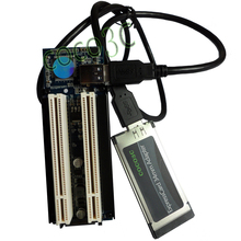 Laptop Expresscard 34 To 2 PCI 32bit slots adapter Express Card Riser card for PCI sound card serial parallel card