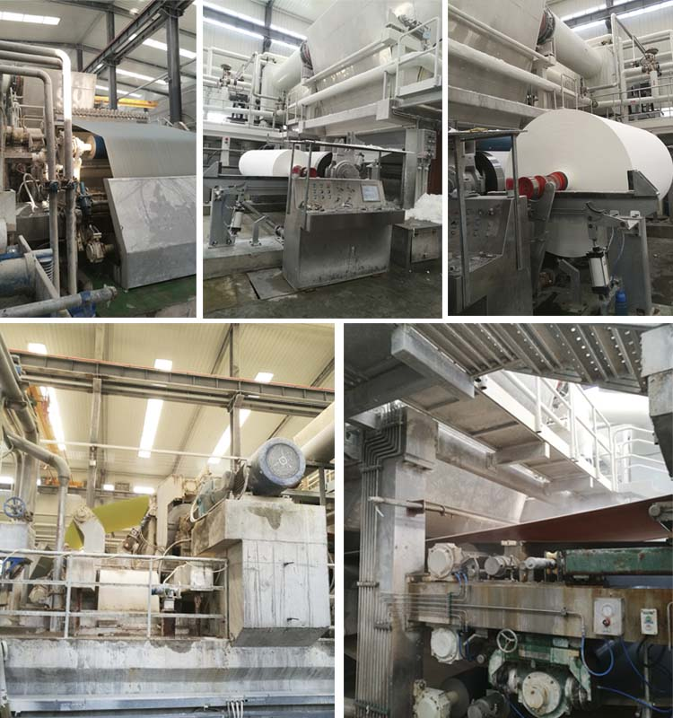 चीन आपूर्तिकर्ताओं रीसाइक्लिंग कागज बनाने की मशीन उत्पादन ऊतक टॉयलेट पेपर मशीन
