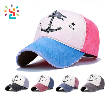 Vintage Style the Pirate Ships Anchor Printing Multicolor Adjustable  Baseball Cap custom print logo sports hats 41aed29859a