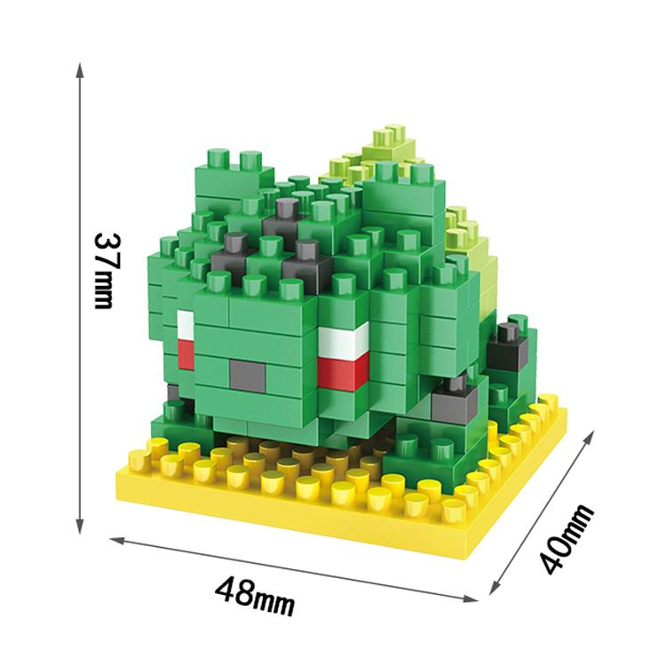HSANHE DIY toys Mini Cartoon Pokemon GBA Diamond building blocks toys