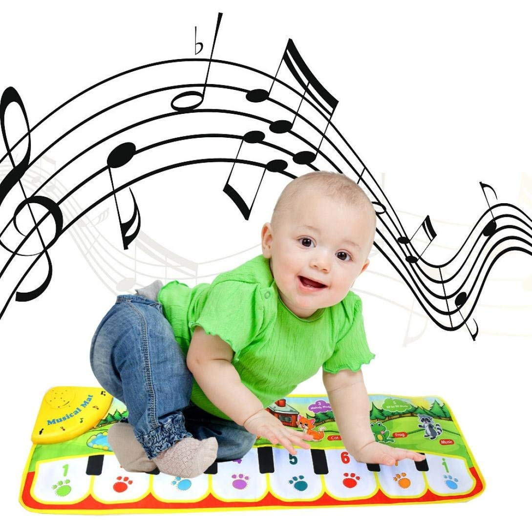Gbell Touch Singing Musical Carpet Play Mat,Music Play Keyboard Mat for Kids Toddlers Baby Infants 0-5 Years Old Gift,12.2×10.6×1.6 Inch