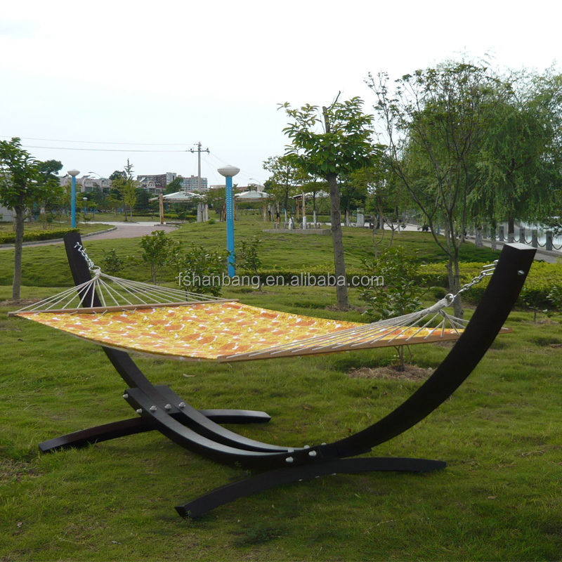 Outdoor Garden Patio Swing Furniture Free Standing Wood Curved Arc ...
