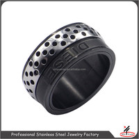 gun black titanium rings for gemstone wholesale titanium rings