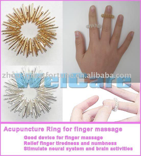Finger Massage Roller/ Sujok Ring/ Acupressure Ring/ Acupuncture ...