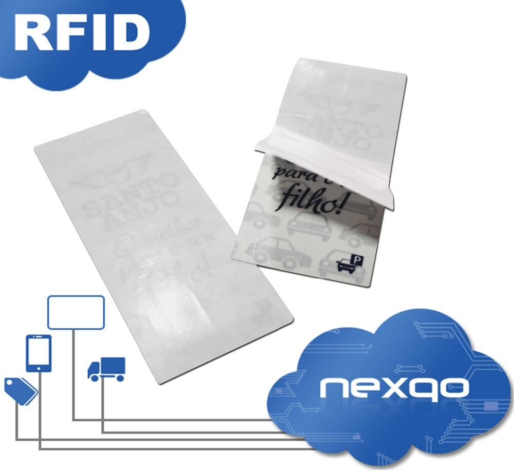 UHF RFID windshield sticker tag for vehicle