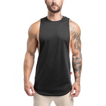 f13e98e72fcee China Wholesale Mens Tank Top Gym Wear Strunger Vest Gym Mens Cotton with  Spandex Curved Hem