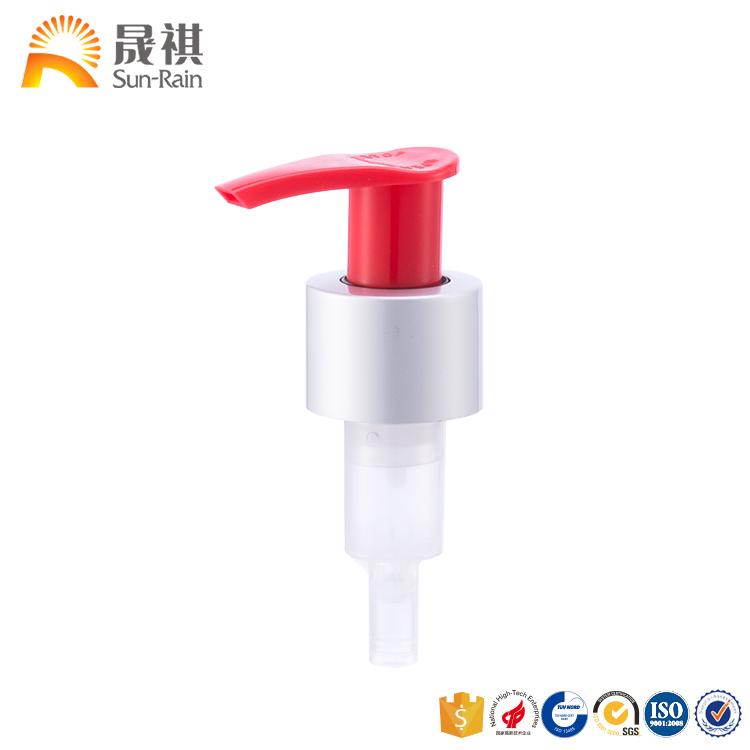 Aluminium matt silver switch Cosmetic cream hand metal soap lotion pump