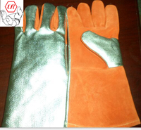 fire fighter leather working safety glove
