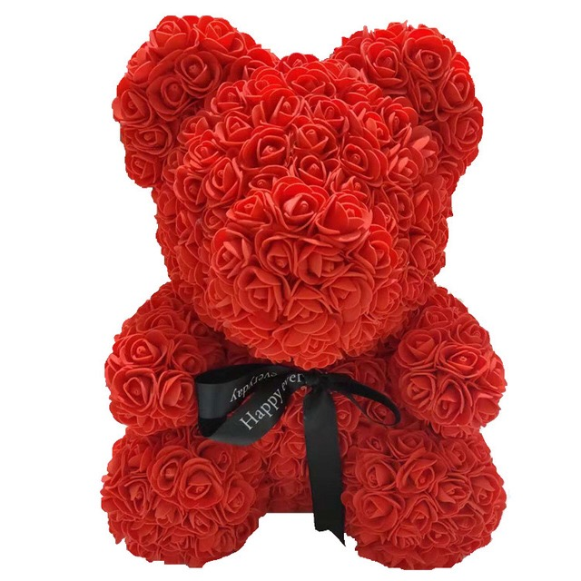 Red Rose Bear Teddy Bear Forever Artificial Rose Anniversary Christmas Valentine