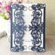 China luxury printed handmade laser cut latest wedding invitation card design purple &dark blue color unique designs