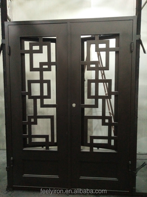 Chinese Commercial Double Steel Security Doors Exterior Buy