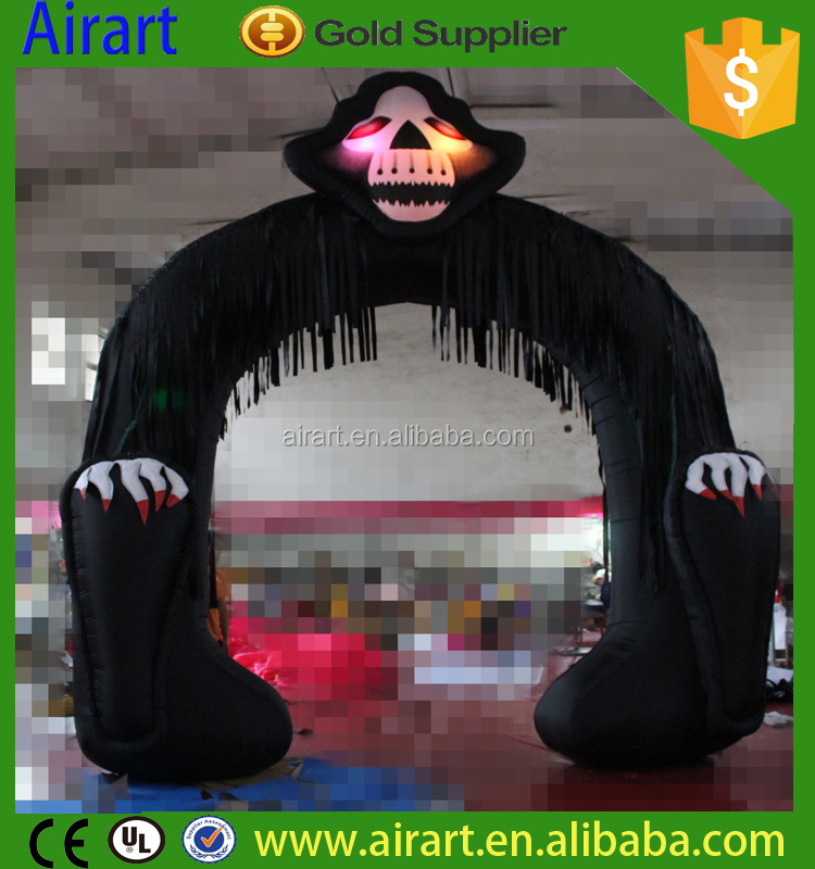Halloween inflatable arch, inflatable archway, led lighting arch inflatables for night party